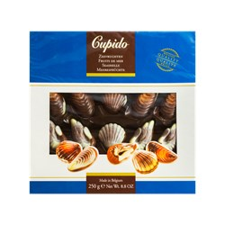 Bombons de Chocolate Belga CUPIDO Formato Frutos do Mar 250g