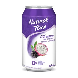 Chá Branco NATURAL TEA Com Pitaya e Amora Lata 335ml