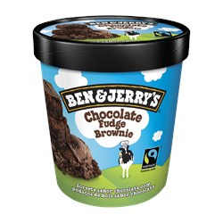 Sorvete Americano BEN & JERRY Chocolate Fudge Brownie 458ml